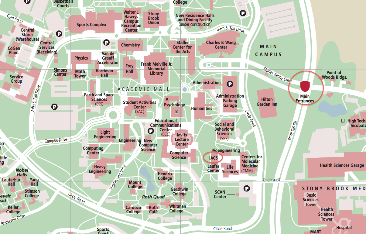 Stony Brook University Map Directions | Institute for Advanced Computational Science Stony Brook University Map